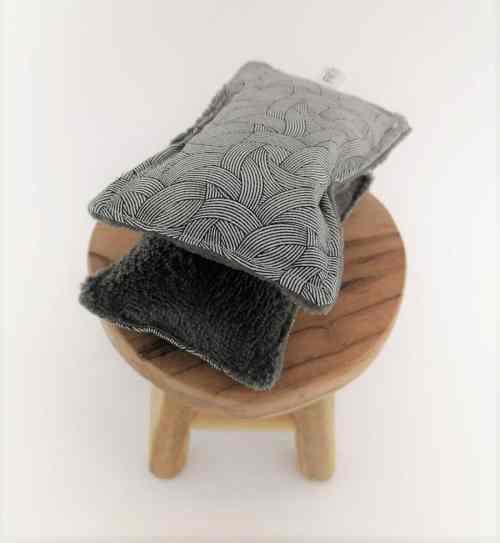 Eponge lavable Fil'Otablo Eponge de bambou grise