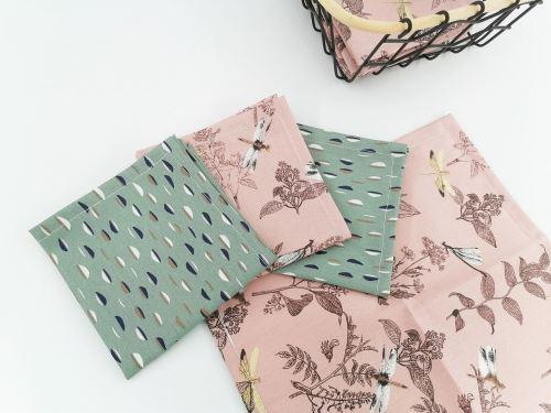 Mouchoir en tissu coton biologique Fil'Otablo Fait main