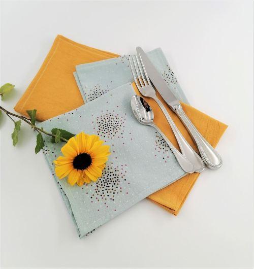 Serviette de table coton lavé froissé Fil'Otablo Zéro Déchet