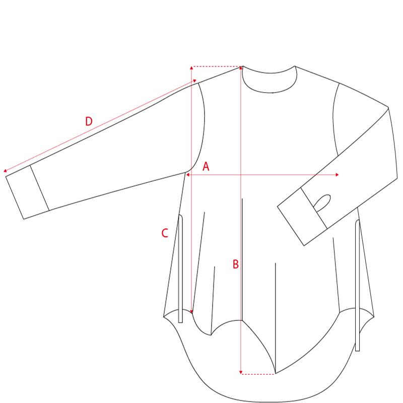 Filotimo camicia asimmetrica 100% lana