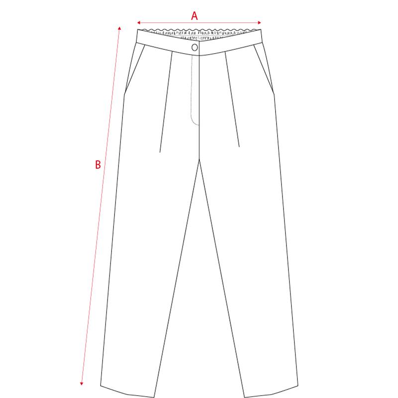 Filotimo pantaloni sigaretta 100% lana