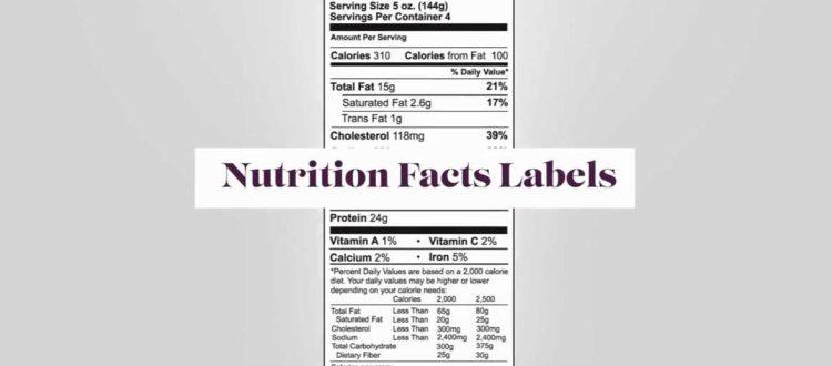 Label informasi gizi