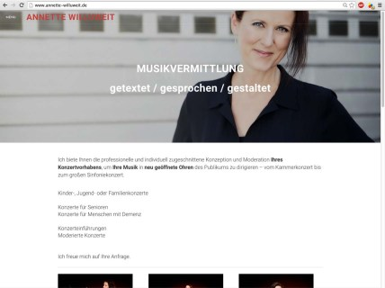 Website Design für Annette Willuweit