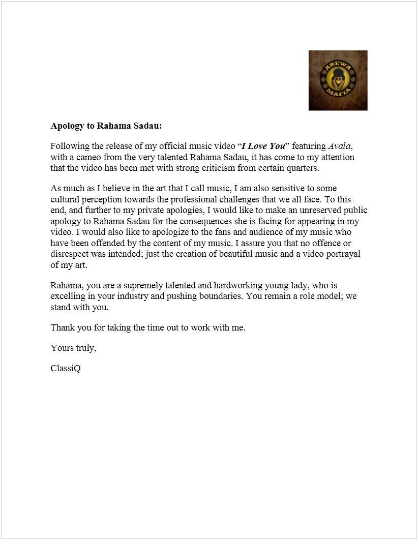 apology-letter-to-rahama-sadau