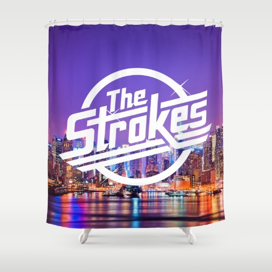 the-strokes-logo-new-york-night-shower-curtains