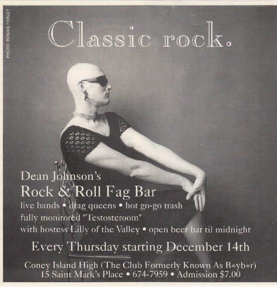 Dean Johnson's Rock n'Roll Fag Bar