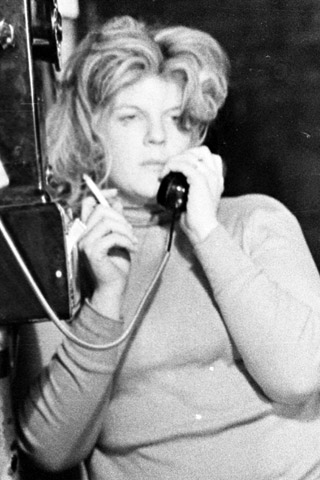 Brigid on the phone