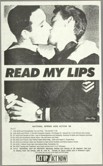 Gran Fury with ACT-UP, Read My Lips (boys), 1988