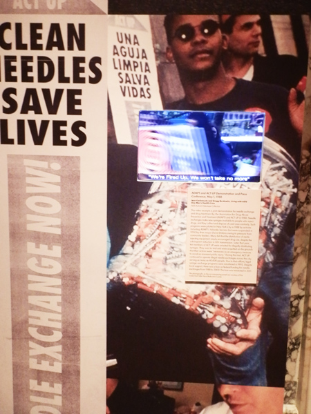 Installation of New York Public Library's Why We Fight: Remembering AIDS Activism (photo by author)