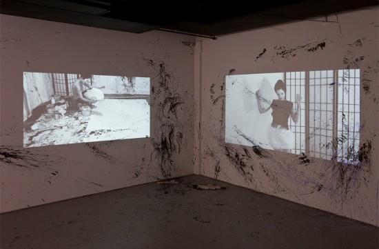 Andrea Mary Marshall Untitled Double Self Portrait, 2013 HD Video on loop