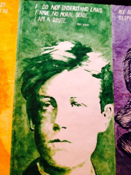 Mike Kelley's Rimbaud from Pay For Your Pleasure, 1988 (photo by mom)