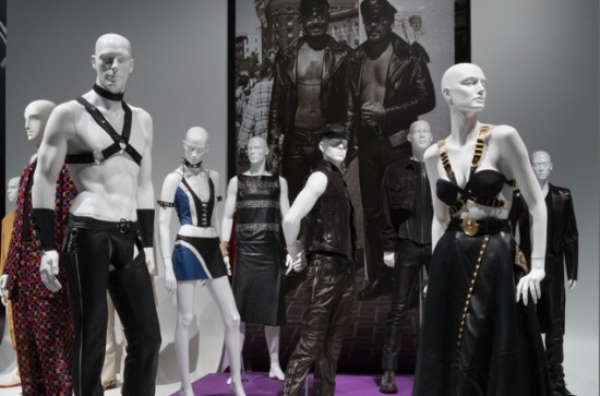 Installation view of A Queer History Of Fashion at Museum at FIT (all photos courtesy of the Museum at FIT, New York)