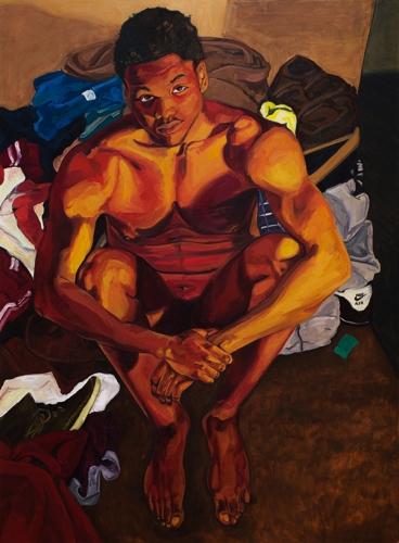 Jordan Casteel, Cornelius, 2013, oil on canvas, 72 x 54 inches