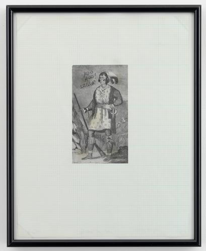 Mike Kelley, Osceola, Leader of the Indians in the Second Seminole War, from Reconstructed History series, 1989, ink on printed paper, mounted on paper