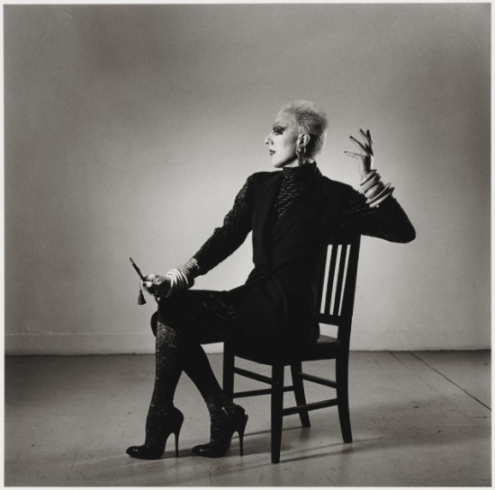 Peter Hujar, Ethyl Eichelberger in a Fashion Pose, 1981 (Courtesy Peter Hujar Archive)