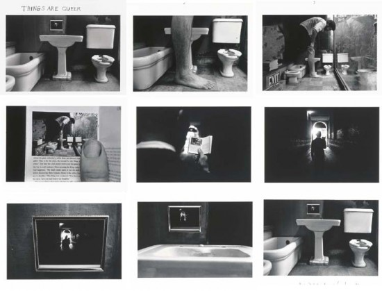Duane Michals, Things Are Queer, 1973. gelatin silver print with hand-applied text (Courtesy of the artist and DC Moore, via dcmooregallery.com)