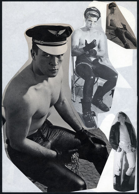 Tom of Finland, Untitled, ca. 1966, Collage on paper, Tom of Finland Foundation, Permanent Collection