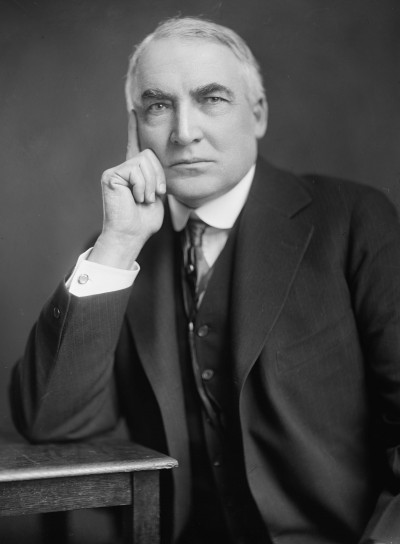 "Warren ""G-string"" Harding (via wikipedia.org)"