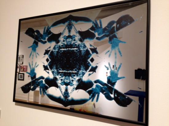 Kia Labeija, Rebirth, 2015, digital print on mirror