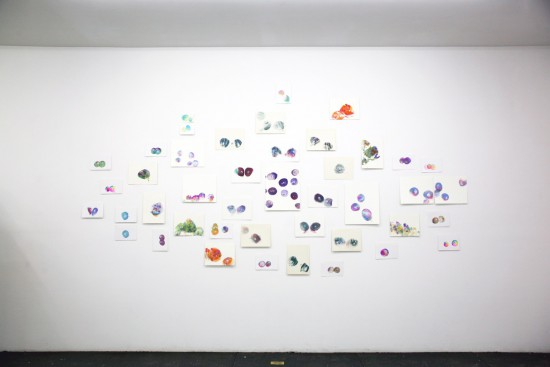 Brigid Berlin, It's All About Me, 2015, Installation View of Tit Paintings (all Brigid Berlin images courtesy of the artist and INVISIBLE-EXPORTS, New York)