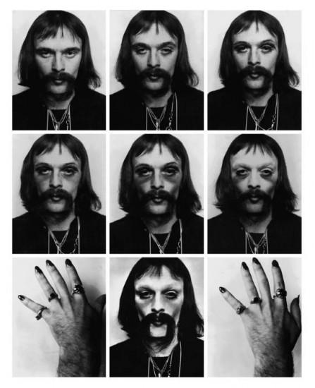 Jürgen Klauke, Ich & Ich (I & I), Black and white Lambda prints, 1970 (Courtesy the artist and Koenig & Clinton, New York)
