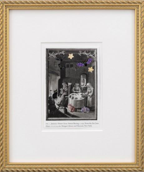 Karen Kilimnik, medieval dinnertime, 2015, Collage on paper