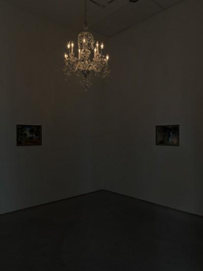 Installation view of Karen Kilimnik at 303 Gallery