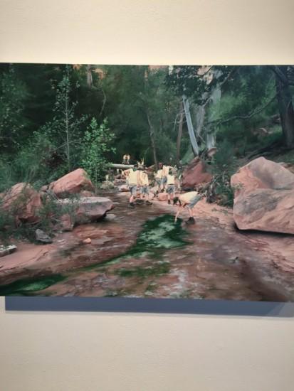 Cobi Moules, Untitled (Fallen Tree Near LaVerkin Creek II), 2012, oil on canvas