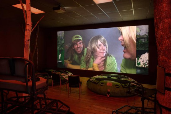 Installation view of Lizzie Fitch/Ryan Trecartin at Andrea Rosen Gallery