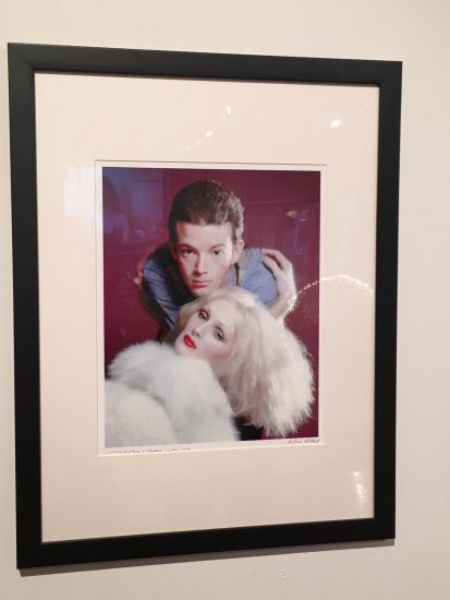 """Jack Mitchell, Jackie Curtis as """"Blue Denim"""" and Candy Darling as """"Donna Bella Beads"""" in Vain Victory, 1971, archival pigment ink color print, Courtesy of the Jack Mitchell Archive (photo by author)"""