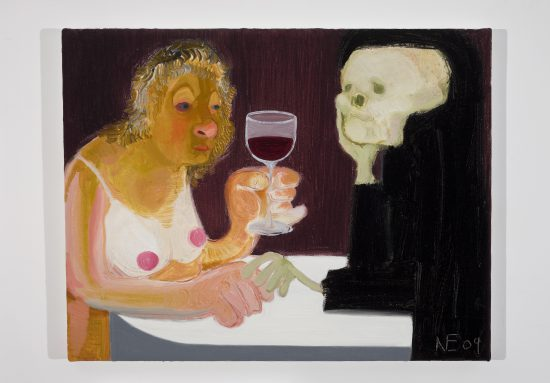 """Nicole Eisenman """"Death and the Maiden"""", 2009 Oil on canvas 14.5"""" H x 18"""" W (36.83 cm H x 45.72 cm W) Courtesy of the artist and Susanne Vielmetter Los Angeles Projects Image"""