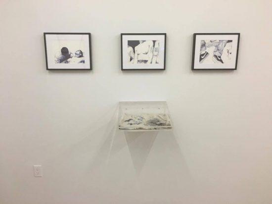 Installation view of Rafa Esparza's work at Participant Inc.
