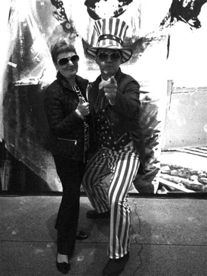 Mama and 'Uncle Sam' channeling Elvis