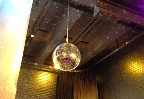 Disco ball throwing sparklies
