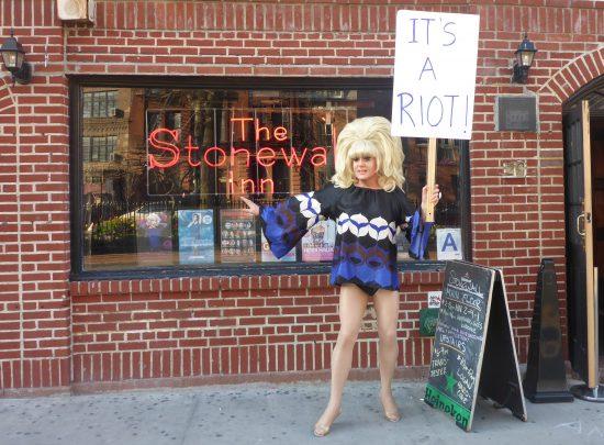 Lady Bunny outside Stonewall (Photo: Jeff Eason)