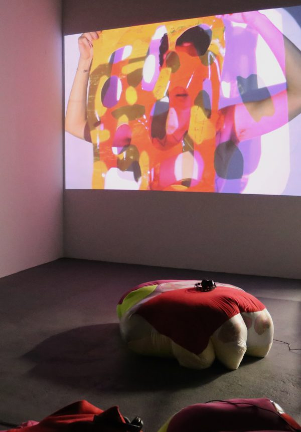Installation view from Read My Lips on view at Knockdown Center through December 18, 2016