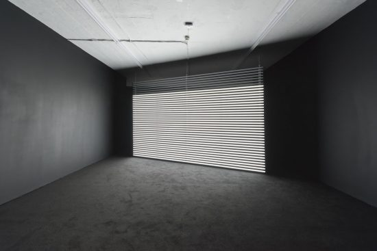 Marianna Simnett, Faint with Light, 2016, LEDs, audio, aluminium, acrylic (Courtesy the artist and Seventeen Gallery)