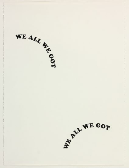 Sadie Barnette, Untitled (We All We Got), 2016, Graphite on paper (Courtesy the artist and Baxter Street CCNY)