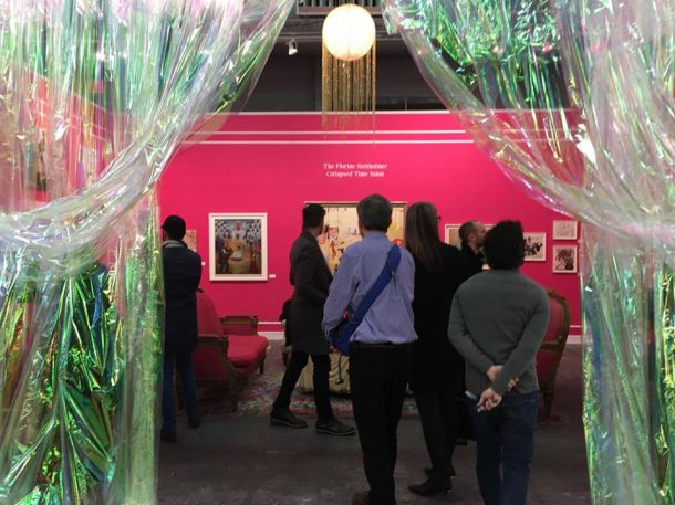 View outside Jeffrey Deitch's The Florine Stettheimer Collapsed Time Salon at the Armory Show (photo by author)