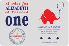 A very Republican Birthday Invites