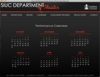 Department of Theater Website