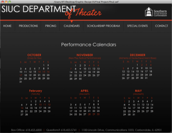 Department of Theater Website