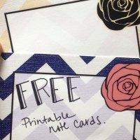 Free Printable Notecards & Envelope