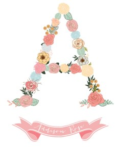 Print for a little girls room
