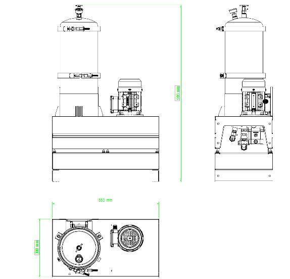 Układ ogólny- agregat filtracyjny AD1002-T-DX