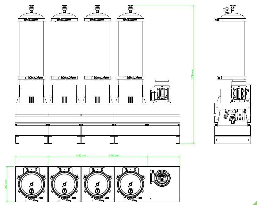 Układ ogólny- agregat filtracyjny AD1012-T-DX