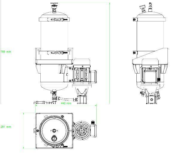 układ ogólny- agregat filtracyjny AD1002-W-DX