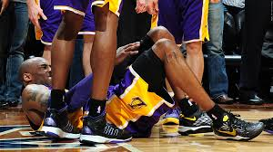 Kobe is out again for six weeks due to knee injury