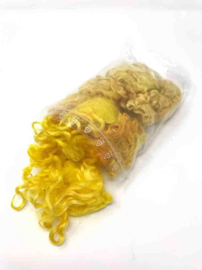 Schafwollocken gelb