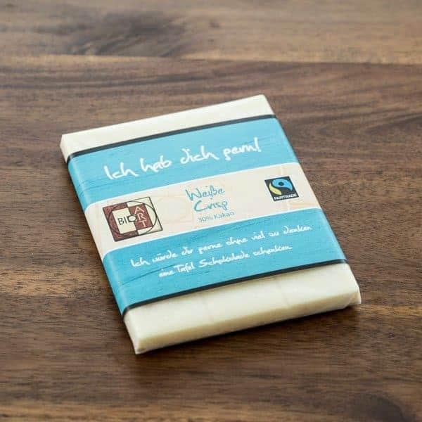 Weiße Schokolade Bio Crisp BioArt